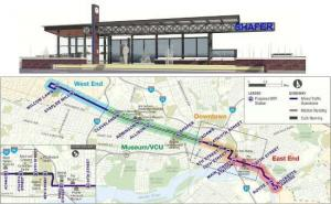 Richmond Bus Rapid Transit Station & Map