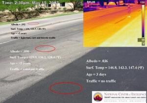 Multi Surface Road Varied Heat Gain